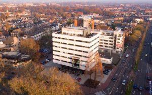 Impressie exterieur kantoortransformatie te Dordrecht