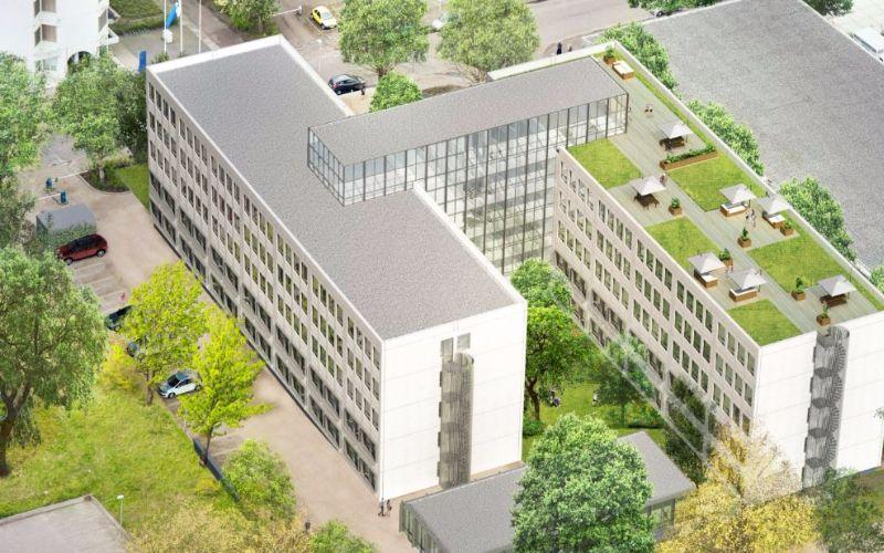 Impressie kantoortransformatie Haarlem